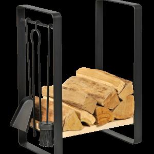 Holzaufbewahrung mit Besteck 4